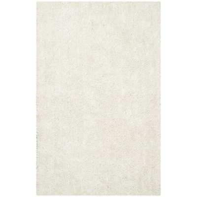 Safavieh Medley Textured New Orleans Off-White Shag Rug (5' x 8') - Overstock