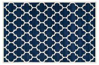 Taura Rug, Dark Blue/Ivory - One Kings Lane