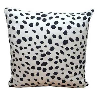 "Spotted Pillow -White/black-  18"" x 18"" - down insert - Society Social"