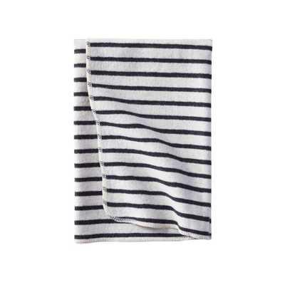McKenna Striped Baby Blanket - Domino