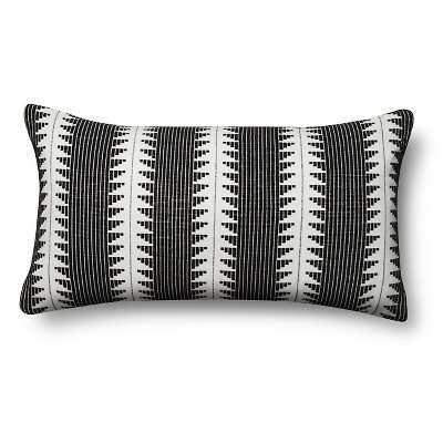 """Global Oversized Lumbar Pillow - Black - 27""""x15"""" - Polyester fill - Target"""