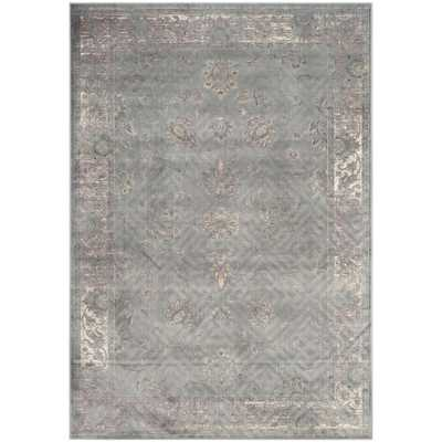 Safavieh Antiqued Vintage Grey Viscose Rug (8'10 x 12'2) - Overstock