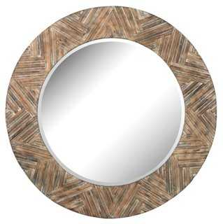 Anthony Oversize Mirror, Brown - One Kings Lane
