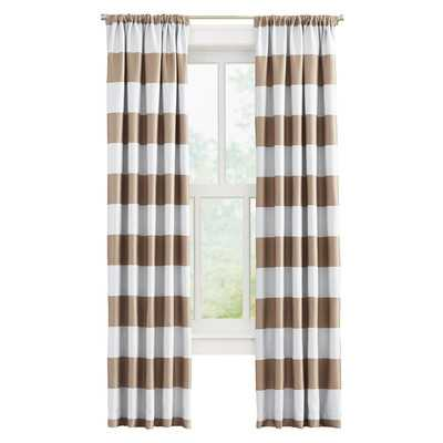 "Brookridge Curtain Panel - Taupe - 84"" L x 52"" W - Wayfair"