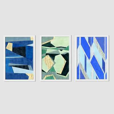 Roar + Rabbit Print - Fragmented Set of 3 - West Elm