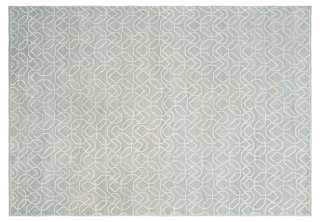 Hilaria Rug, Seafoam/Ivory - One Kings Lane
