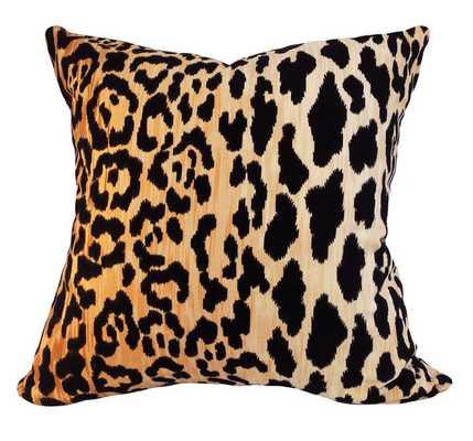 "Leopard Cotton Velvet Jamil Pillow Cover - 20"" x 20"" - Insert is Not Included - Etsy"