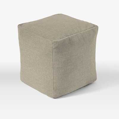 "Special Order Pouf - 16""sq. - Cover + Insert - Natural Linen Weave - West Elm"