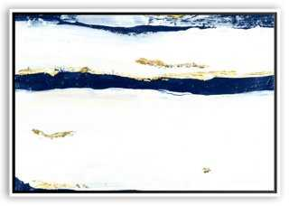Jennifer Latimer, Mod Undercurrent, Navy- 40x30 - Framed - One Kings Lane