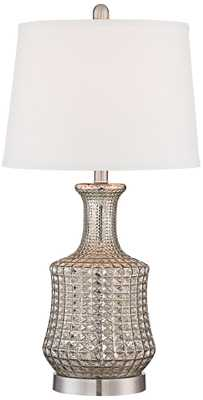 Jody Long Neck Mercury Glass Table Lamp - Lamps Plus