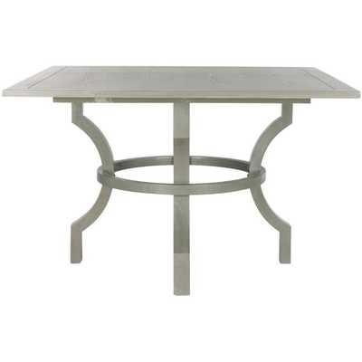 Safavieh Ludlow Ash Grey Square Dining Table - Overstock