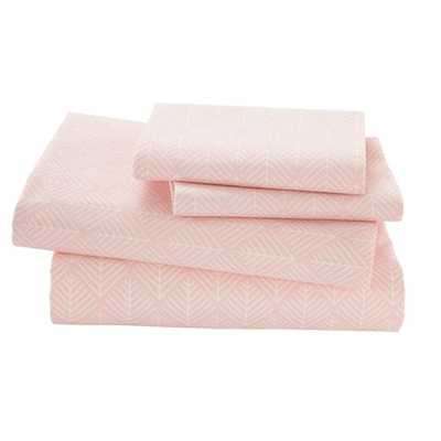 Queen Well Nested Sheet Set (Pink) - Land of Nod