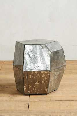 Faceted Mirror Side Table - Anthropologie