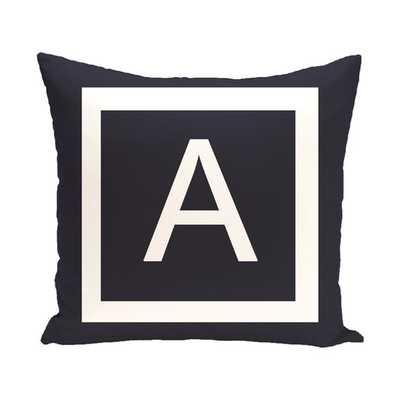 "Amsterdam Monogram Throw Pillow (A)-18''x 18""-Insert included - AllModern"