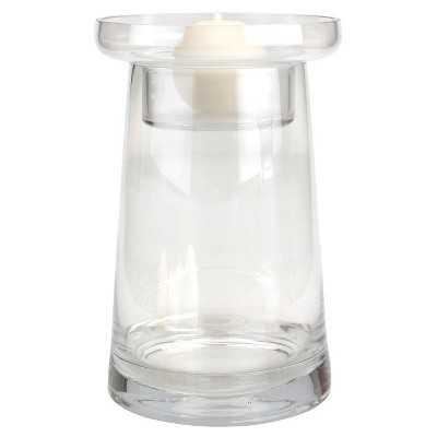 Stonebriar Luster Glass Fillable Pillar Holder - Target
