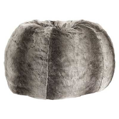 Gray Ombre Faux Fur Beanbag - Pottery Barn Teen