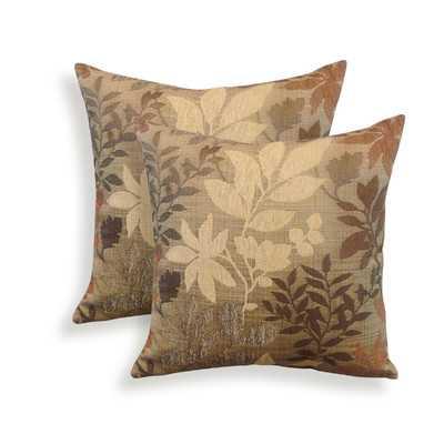 Bristol Chenille Jacquard Leaf Throw Pillowby Essential - Wayfair