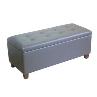 Upholstered Storage Bench - Charcoal Gray - AllModern