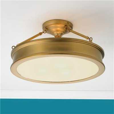 Traditional Urban Semi Flush Ceiling Light - shadesoflight.com