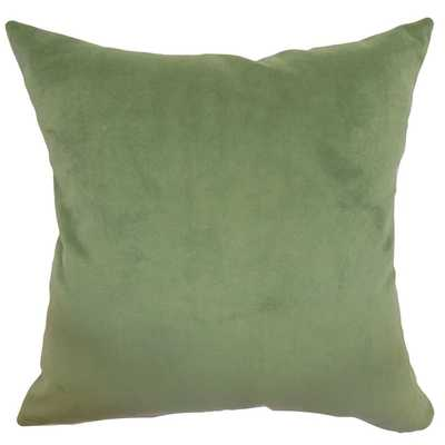Generys Forest Plain Feathered Filled 18-inch Throw Pillow - Overstock