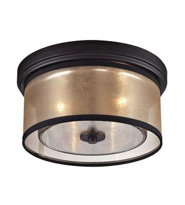 ELK Lighting Diffusion 2 Light Flush Mount - lights.com