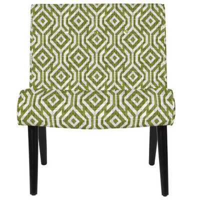 angelo:HOME Finley Lorin Square Mossy Green Armless Chair - Overstock
