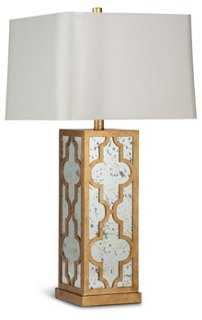 Antiqued Glass Table Lamp - One Kings Lane