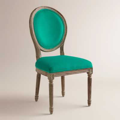 Emerald Paige Round Back Dining Chair, Set of 2 - World Market/Cost Plus