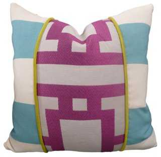 Zuma Cotton-Blend Pillow - One Kings Lane