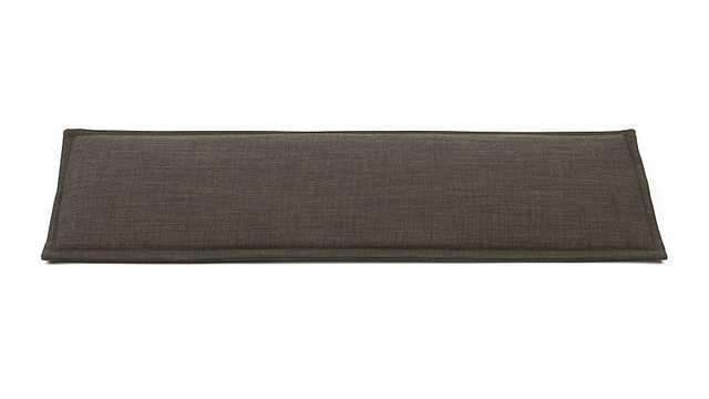 Dark Granite Bench Cushion - Crate and Barrel