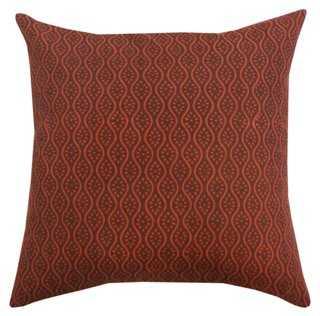 Indian Motif Pillow - One Kings Lane
