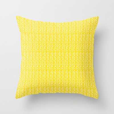 """Hello Yellow Pillow - 20"""" x 20"""" with Down Insert - Society6"""
