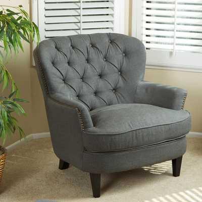 Tafton Tufted Fabric Club Chair - Overstock