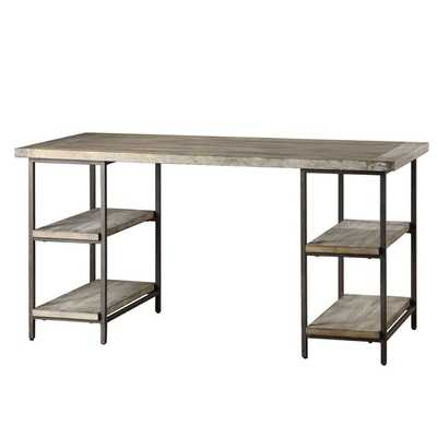 Renate Wood/ Metal Office Desk - Overstock