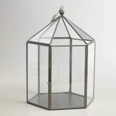 Antique Zinc Metal Riley Lantern - World Market/Cost Plus