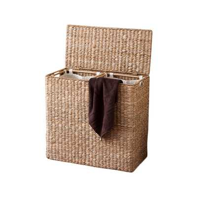 Oversized Divided Hamper with Liner - Wayfair