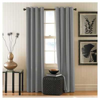 """Curtainworks Monterey Lined Curtain Panel - Pewter - 84""""L - Target"""