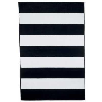 Breton Stripe Black and White Area Rug - AllModern