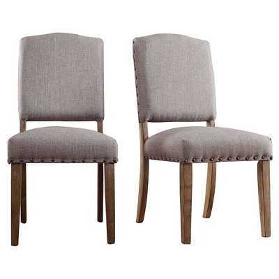 Inspire Q Cobble Hill Nailhead Accent Dining Chair (Set of 2) - Target