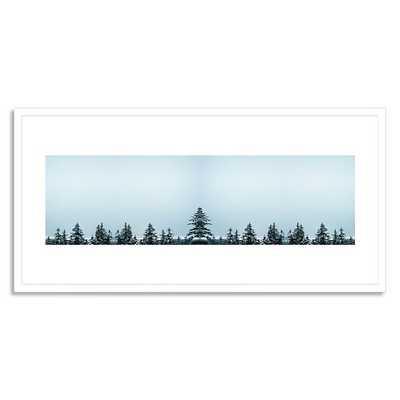 "Treetops - 40"" x 20"" - White Frame - West Elm"