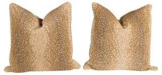 Custom Khaki Antelope Pillows, Pair - One Kings Lane