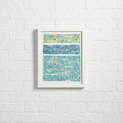 "Watercolor Knit Wall Art  -12""Wx15""H - White frame-with mat - Land of Nod"