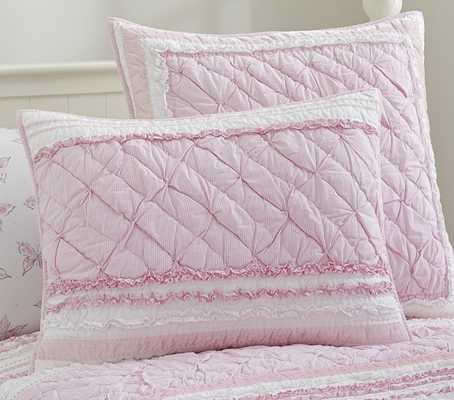 Brigette Ruffle Quilted Bedding - Standard Quilted Sham - Pottery Barn Kids