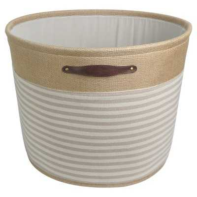 Round Fabric Basket with Handles - Stripes - Target