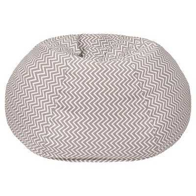 Gold Medal Cosmo ZigZag Print Extra Large Bean Bag - Grey - Target