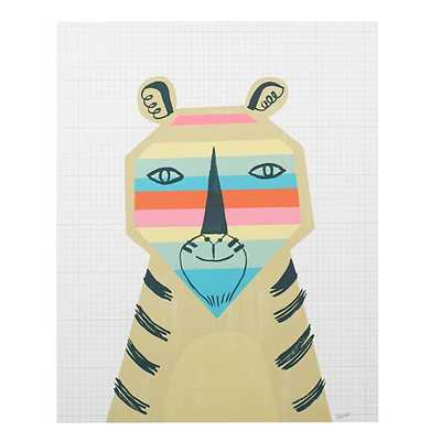 Rainbow Tiger Poster Decal - Land of Nod