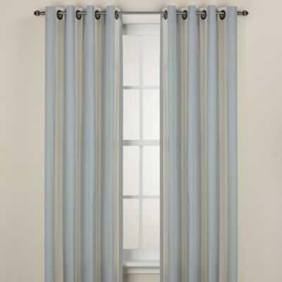 Lauren Stripe 95-Inch Window Curtain Panel in Blue - Bed Bath & Beyond