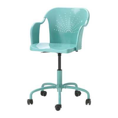 ROBERGET Swivel chair - Turquoise - Ikea
