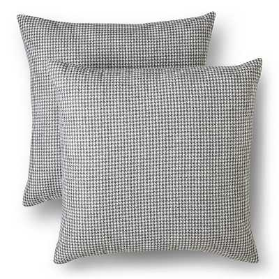 Houndstooth Throw Pillows - Gray - 18x18 - With Insert - Target