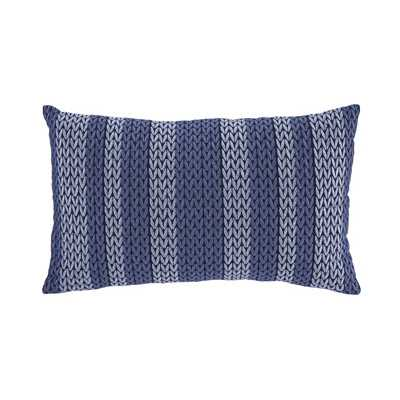 Shumpert Cotton Lumbar Pillow - Blue, 12x20, With Insert - Wayfair